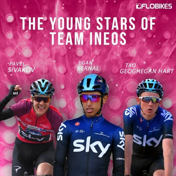 Team Ineos a jeho Young Guns...